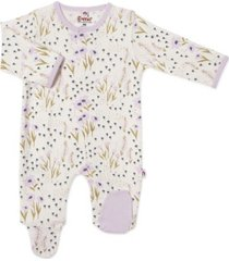 baby girl lavender fields magnetic footie one piece