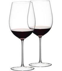 conjunto de 2 taças para vinho bourdeaux grand cru 860ml sommelier riedel