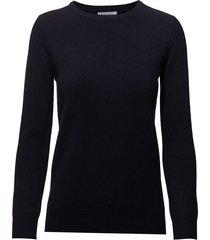basic sweater gebreide trui blauw davida cashmere