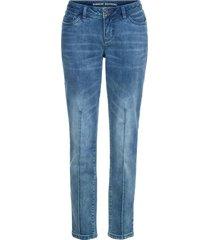 jeans boyfriend con pieghe (blu) - rainbow