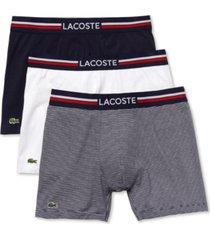 lacoste men's 3-pk. stretch boxer briefs