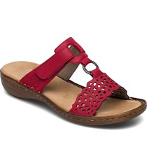 608a7-33 shoes summer shoes flat sandals röd rieker