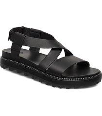 roaming™ criss cross sandal shoes summer shoes flat sandals svart sorel