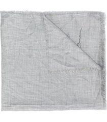 giorgio armani frayed scarf - grey