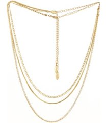 ettika simple crystal chain necklace set of 2