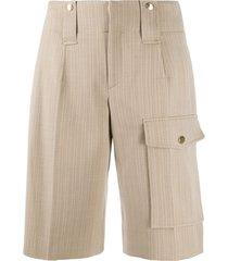 chloé knee-length wool shorts - neutrals