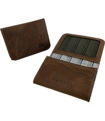 mini carteira raffai - modelo 23r marrom claro - multicolorido - dafiti