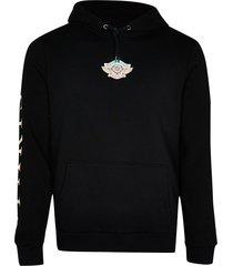 river island mens black 'provence' print hoodie