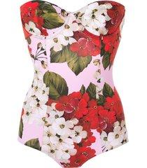 dolce & gabbana rose print swimsuit - pink