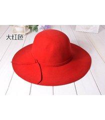 lana a lo largo de la moda casual de las señoras sombrero sombrero salvaje