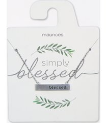 maurices womens dainty blessed necklace gray