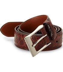 saks fifth avenue men's genuine crocodile belt - cognac - size 36