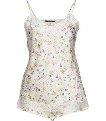 smilla top + shorts aop pyjamas creme missya