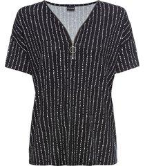 maglia fantasia con cerniera (nero) - bodyflirt