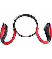 audífonos bluetooth estéreo hd manos libres inalámbricos, en el oído del deporte inalámbrico auricular inalámbrico manos libres super bass música estéreo con micrófono(rojo)