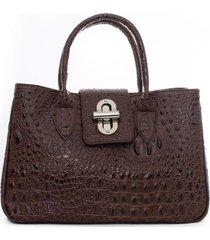 cartera con diseño marrón lorenzo di pontti