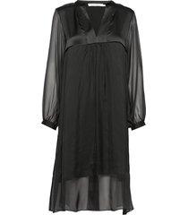 adelle jurk knielengte zwart rabens sal r