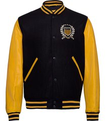 d1. crest gant varsity jacket bomberjack jack blauw gant