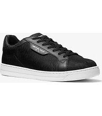 mk sneaker keating in jacquard con logo - nero (nero) - michael kors