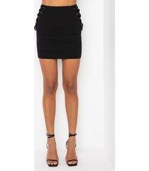 akira dual side lace up mini skirt