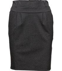 jillian skirt knälång kjol grå kaffe