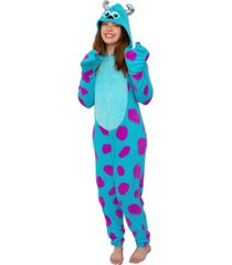 sulley from monsters inc. one piece hooded pajama set, online only