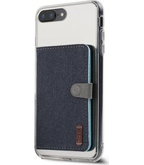 billetera ringke flip card holder para el iphone 7, android, samsung galaxy, lg - color navy