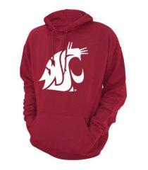 retro brand washington state cougars men's screenprint big logo hooded sweatshirt