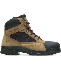 "wolverine men's chainhand defender steel-toe 6"" boot gravel, size 14 medium width"