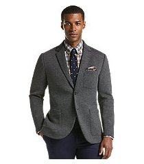 1905 collection tailored fit heathered knit casual jacket - big & tall clearance