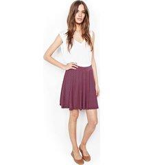 sergio mini swing skirt - l navy red stripe
