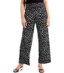 bar iii printed smocked-waist pants, created for macy's