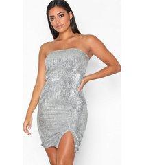 nly one shine sequin tube dress paljettklänningar
