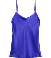 blusa em cetim de seda intimissimi cetim azul