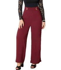 envío gratis pantalon aleja vinotinto para mujer croydon