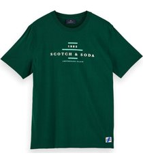 scotch & soda t-shirt crew neck logo tee 156804 1156