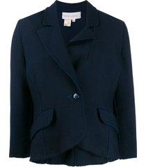 a.n.g.e.l.o. vintage cult 1970s mila schon's curvy buttoned jacket -