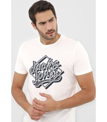 camiseta jack & jones cloud danc off-white