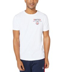 nautica men's big & tall sailing club logo t-shirt