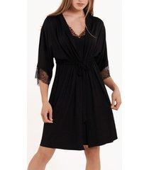 pyjama's / nachthemden lisca black rose kleedde uit