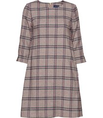 d1. washable str wool a-line dress korte jurk multi/patroon gant