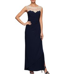 women's alex evenings side ruched gown