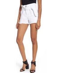 women's 7 for all mankind paperbag waist denim shorts