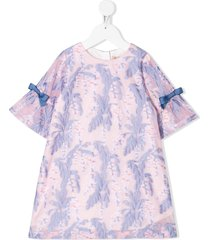 hucklebones london bell sleeve shift dress - pink