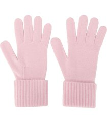 n.peal ribbed cashmere gloves - pink
