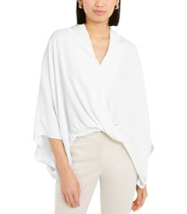 alfani wide-sleeve surplice blouse, created for macy's