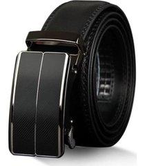 cinturón hebilla automática hombre casual cuero 125cm z070 negro