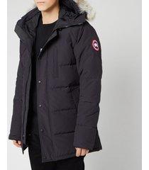 canada goose men's carson parka jacket - navy - xl