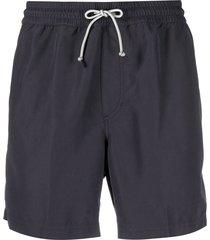 brunello cucinelli drawstring waist swim shorts - blue