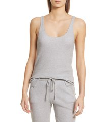 women's atm anthony thomas melillo scoop neck cotton & cashmere sweater knit tank, size x-small - grey